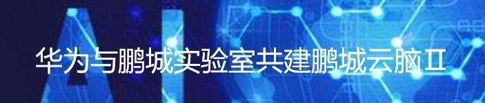 鲲鹏昇腾,华为与鹏城实验室共建鹏城云脑Ⅱ