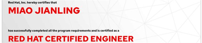 捷讯:缪建凌12月31日上海顺利通过RHCE认证。