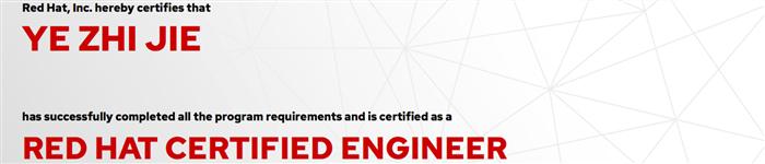 捷讯:叶智杰12月31日上海顺利通过RHCE认证。