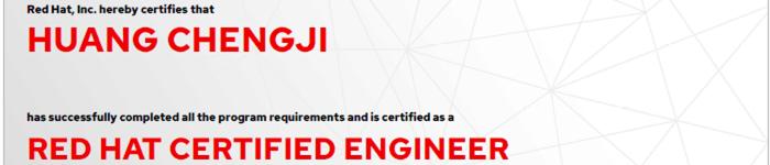捷讯:黄承吉1月10日上海顺利通过RHCE认证。