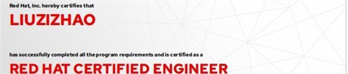 捷讯:刘子昭12月31日北京顺利通过RHCE认证。