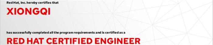 捷讯:熊奇1月10日北京顺利通过RHCE认证。