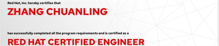 捷讯:张传岭1月10日北京顺利通过RHCE认证。
