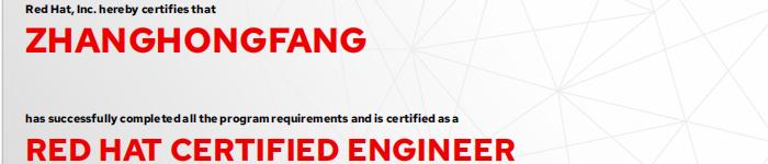 捷讯:张红芳1月10日北京顺利通过RHCE认证。