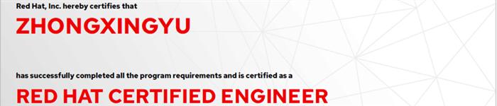 捷讯:钟兴宇12月30日上海顺利通过RHCE认证。