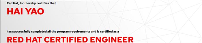 捷讯:姚海1月10日北京顺利通过RHCE认证。