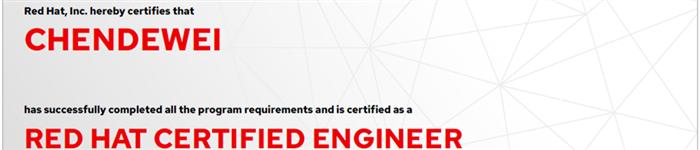 捷讯:陈德威12月30日上海顺利通过RHCE认证。