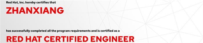 捷讯:詹翔12月30日上海顺利通过RHCE认证。