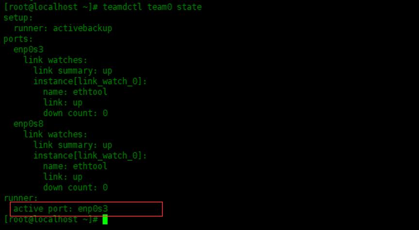 使用nmcli配置主备模式链路聚合使用nmcli配置主备模式链路聚合
