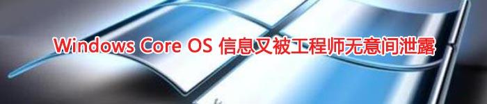 Windows Core OS 信息又被工程师无意间泄露