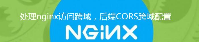 Nginx解决前端跨域问题 CORS跨域配置