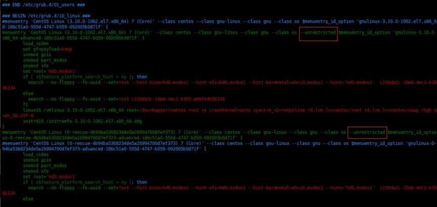 如何在 Centos7.7 设置GRUB菜单的密码如何在 Centos7.7 设置GRUB菜单的密码