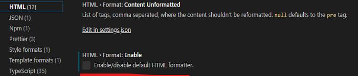 解决vscode 中保存后html自动格式化的问题