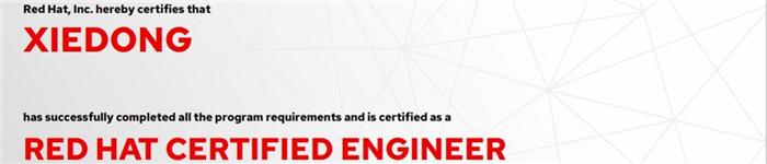 捷讯:谢东1月14日北京顺利通过RHCE认证。