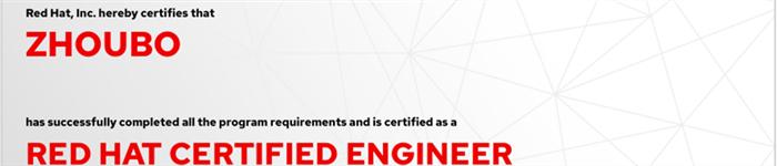 捷讯:周波3月26日广州顺利通过RHCE认证。