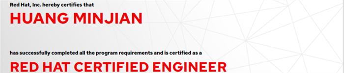 捷讯:黄敏坚3月26日广州顺利通过RHCE认证。