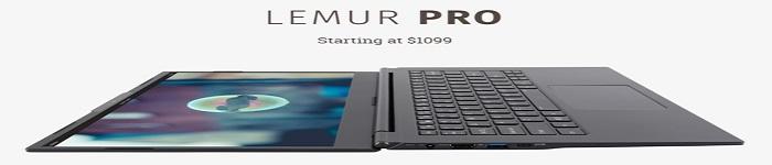 Lemur Pro 新款Linux笔记本售价1099美元!