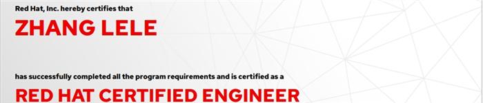 捷讯:张乐乐5月7日北京顺利通过RHCE认证。