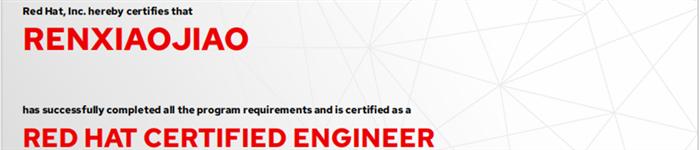 捷讯:任娇娇4月28日广州顺利通过RHCE认证。