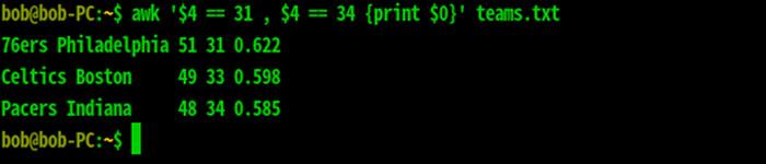 awk命令使用实例