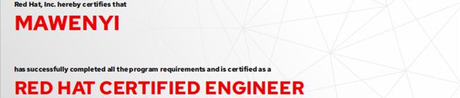 捷讯:马文艺6月22日上海顺利通过RHCE认证。