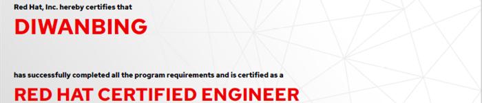 捷讯:狄万冰6月12日上海顺利通过RHCE认证。