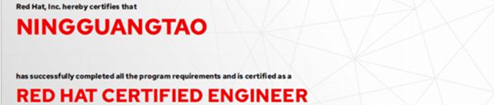 捷讯:宁广涛6月24日北京顺利通过RHCE认证。