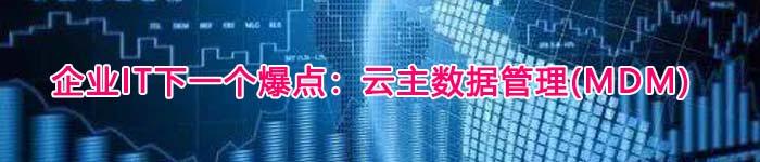 企业IT下一个爆点:云主数据管理(MDM)