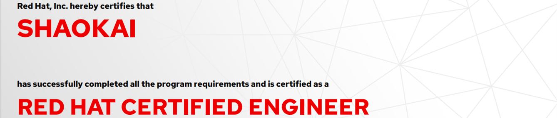 捷讯:邵凯7月17日北京顺利通过RHCE认证。