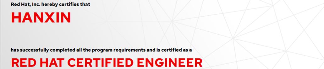 捷讯:韩鑫7月6日北京顺利通过RHCE认证。