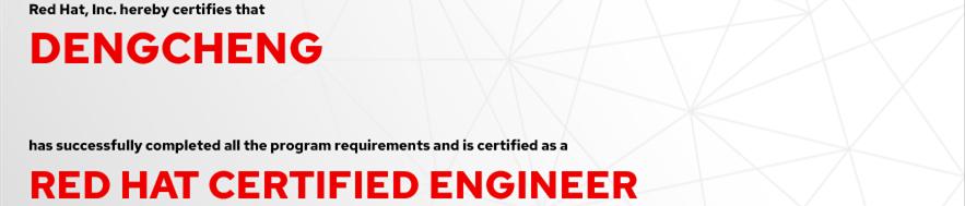 捷讯:邓诚7月13日上海顺利通过RHCE认证。