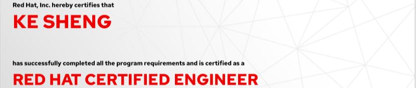 捷讯:盛珂7月16日上海顺利通过RHCE认证。