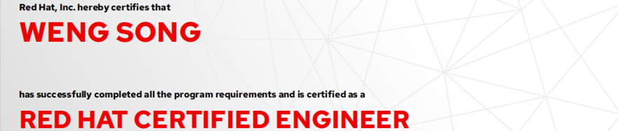 捷讯:翁松7月22日北京顺利通过RHCE认证。