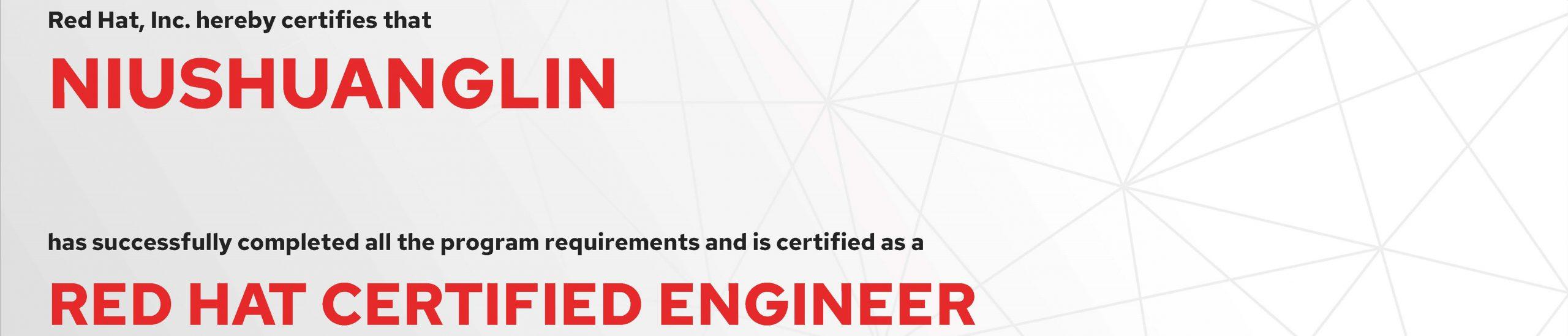 捷讯:牛双林7月9日北京顺利通过RHCE认证。