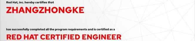捷讯:张忠科7月24日北京双满分通过RHCE认证。