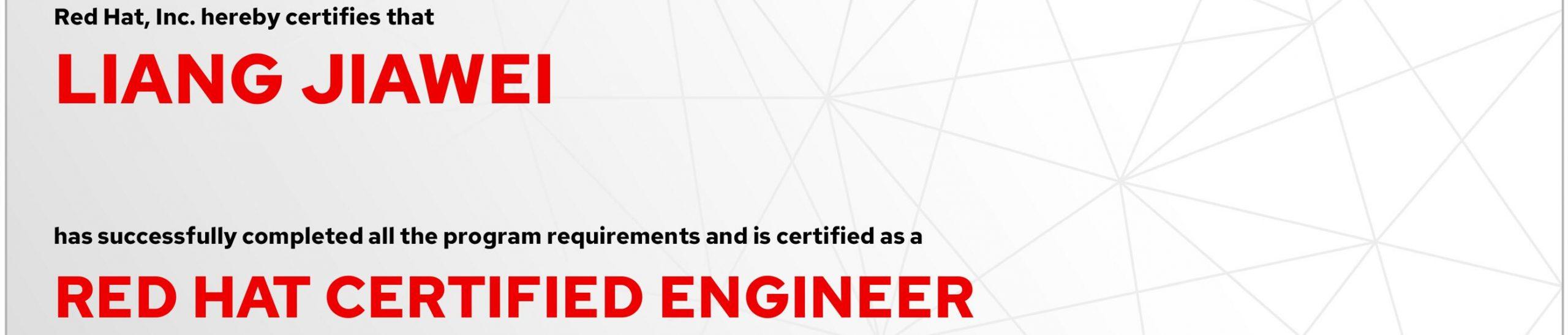 捷讯:梁家伟7月28日北京顺利通过RHCE认证。