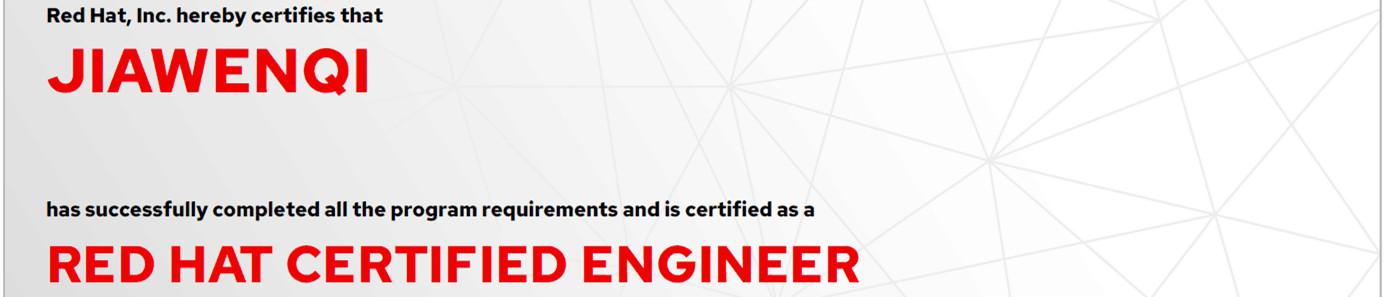 捷讯:贾文岐7月17日北京顺利通过RHCE认证。