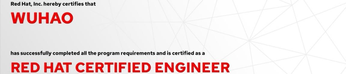 捷讯:吴昊8月24日北京顺利通过RHCE认证。