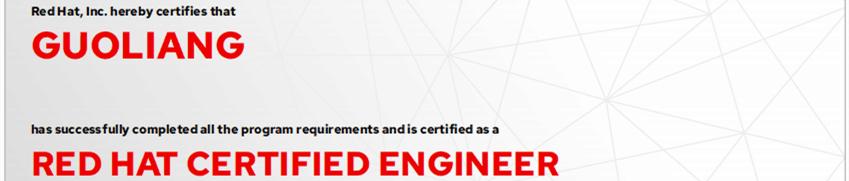 捷讯:郭亮7月22日北京顺利通过RHCE认证。