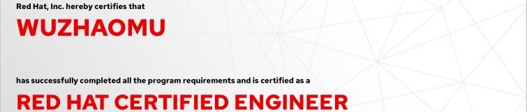 捷讯:吴昭穆8月11日深圳顺利通过RHCE认证。