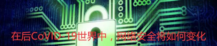 在后CoVID-19世界中,网络安全将如何变化?