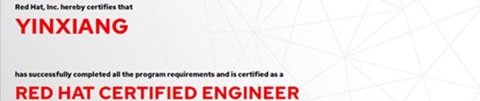 捷讯:殷响9月18日北京顺利通过RHCE认证。