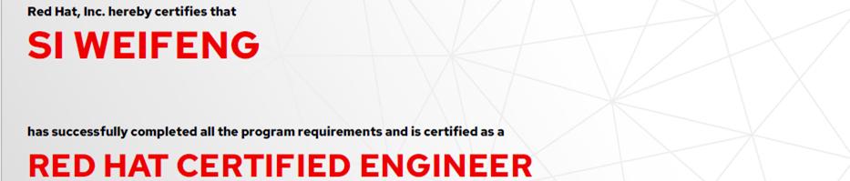 捷讯:司伟锋9月23日上海顺利通过RHCE认证。