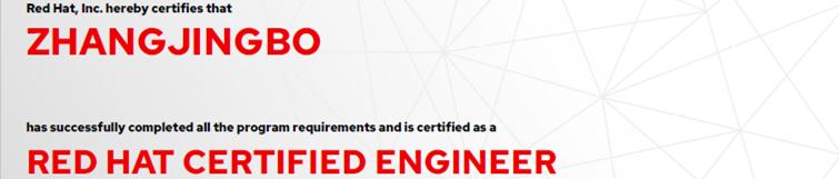 捷讯:张静波10月16日上海顺利通过RHCE认证。