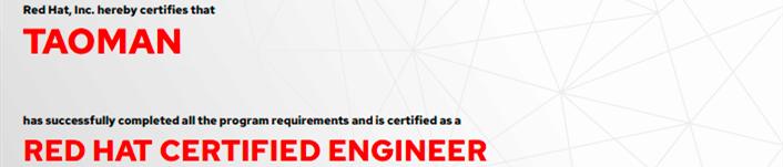 捷讯:陶满10月10日顺利通过RHCE认证。