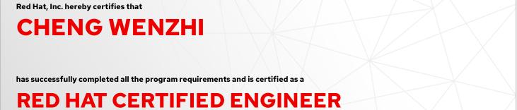 捷讯:程文志11月21日深圳顺利通过RHCE认证。