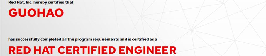 捷讯:郭昊11月26日上海顺利通过RHCE认证。