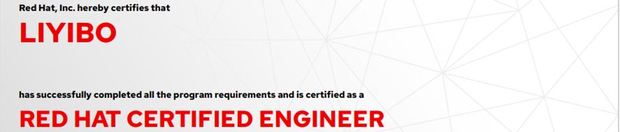 捷讯:李伊波10月26日北京顺利通过RHCE认证。