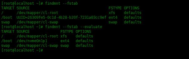 findmnt命令查找已挂载的文件系统findmnt命令查找已挂载的文件系统