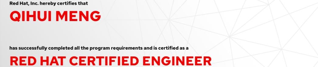 捷讯:孟启辉12月14日广州双满分通过RHCE认证。